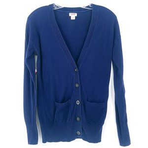 5/25 MOSSIMO Navy Blue Button Up Cotton Cardigan